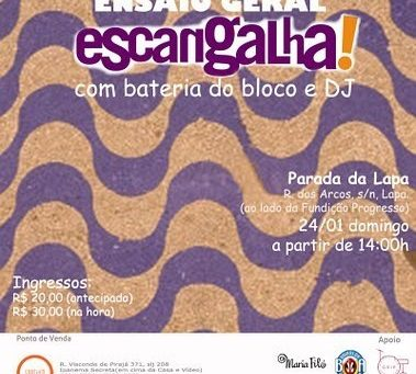 Festa do Escangalha! no domingo, oba!